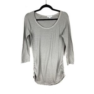 Standard James Perse Ruched Skinny Baseball Tee